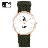 [MLB] 엠엘비 슬림 위빙스트랩밴드 MLB3040LA-RGWC 본사정품_시계