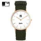 [MLB] 엠엘비 슬림 위빙스트랩밴드 MLB3040NY-RGWC 본사정품_시계