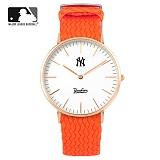 [MLB] 엠엘비 슬림 위빙스트랩밴드 MLB3040NY-RGWO 본사정품_시계