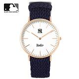 [MLB] 엠엘비 슬림 위빙스트랩밴드 MLB3040NY-RGWS 본사정품_시계