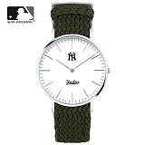 [MLB] 엠엘비 슬림 위빙스트랩밴드 MLB3040NY-SVWC 본사정품_시계