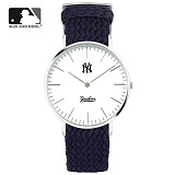 [MLB] 엠엘비 슬림 위빙스트랩밴드 MLB3040NY-SVWS 본사정품_시계