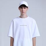 [베테제]veteze - stich mark t(WH) 반팔 반팔티 티셔츠 오버핏