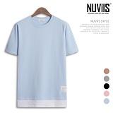 [뉴비스] NIUVIIS - 미니 쭈리 레이어드 반팔 티셔츠(TR074TS) 반팔 반팔티 티셔츠