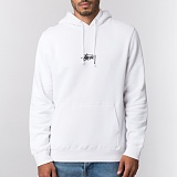 [스투시]STUSSY - HD STOCK HOOD 1923848 (WHITE) 로고 후드티