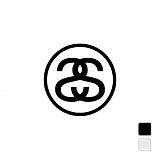 [스투시]STUSSY - SMALL SS-LINK DECAL 137370 (1PCS) 로고 스티커