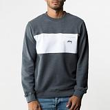 [스투시]STUSSY - POCKET PANEL CREW 118173 (CHARCOAL) 투톤 맨투맨 티셔츠