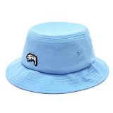 [스투시]STUSSY - STOCK LOGO PIQUE BUCKET HAT 132762 (BLUE) 로고 버킷햇 벙거지