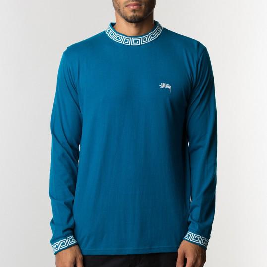 [스투시]STUSSY - SPIRAL COLLAR CREW 114899 (BLUE) 스파이럴 카라 긴팔티 롱슬리브