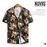[뉴비스] NUVIIS - 로즈 하와이안 반팔셔츠 (RG004SH)