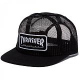 [트래셔]THRASHER MAGAZINE LOGO MESH (BLACK/WHITE) 매거진 로고 메쉬캡