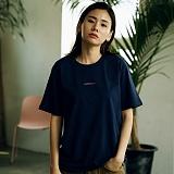 [매스노운]MASSNOUN Unisex T-Shirt  THE NAME  MUSTS012-NV 더 네임 반팔티