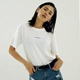 [매스노운]MASSNOUN Unisex T-Shirt  THE NAME  MUSTS012-WT 더 네임 반팔티