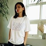 [매스노운]MASSNOUN Unisex T-Shirt  NEON HOLOGRAM  MUSTS013-WT 네온 홀로그램 반팔티