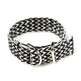 [러쉬오프]RUSH OFF - [UNISEX] Silver Buckle Zigzag Casual Belt Bracelet / 실버버클 지그재그 캐주얼벨트 팔찌
