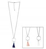 [러쉬오프]RUSH OFF - [Surgical Steel] Tassel Point Silver Chain Necklace / [써지컬스틸/변색 알러지x] 테슬포인트 실버체인목걸이