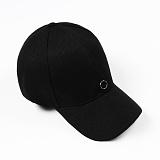 [러쉬오프]RUSHOFF Unisex SilverRing Pendant BackPoint BallCap / 실버링팬던트 백포인트 볼캡 - 블랙
