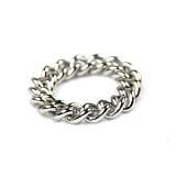 [러쉬오프]RUSH OFF - [Surgical Steel] Silver Basic Chain Ring / [써지컬스틸/변색 알러지x] 실버 베이직 체인 반지