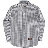 [언더에어] UNDER AIR Seersucker Check Shirts - Black 시어서커 체크 남방 셔츠