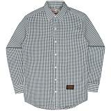 [언더에어] UNDER AIR Seersucker Check Shirts - Green 시어서커 체크 남방 셔츠