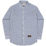 [언더에어] UNDER AIR Seersucker Check Shirts - Navy 시어서커 체크 남방 셔츠