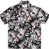 [언더에어] UNDERAIR Black Peach Aloha Shirts - Black