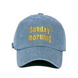 [슬리피슬립]SLEEPYSLIP - [unisex]SUNDAY MORNING DENIM BALL CAP 선데이모닝 볼캡 야구모자