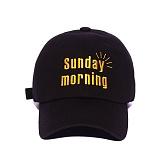 [슬리피슬립]SLEEPYSLIP - [unisex]SUNDAY MORNING BLACK BALL CAP 선데이모닝 볼캡 야구모자