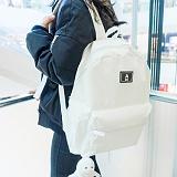 [에이비로드]ABROAD - Basic Backpack (white) 무지백팩 화이트