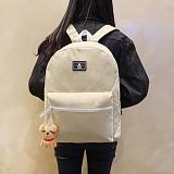[에이비로드]ABROAD - Basic Backpack (beige) 무지백팩 베이지