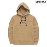 [앨빈클로]ALVINCLO  AVH-190BE 끈배색 후드 티셔츠 후디