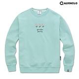 [앨빈클로]ALVINCLO MAR-849MT 화사한 가든 파티 플라워 맨투맨 크루넥 스��셔츠