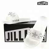 [질리퍼]JILLIPER - LUCY (WHITE-SILVER) 슬리퍼 여름신발 바캉스아이템