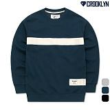 [크루클린] CROOKLYN 테이프 맨투맨 티셔츠 MRL469 크루넥 스��셔츠 폴라