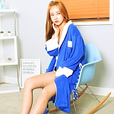 [어거스핀] AGUSFIN SURF BEACH ROBE (BLUE-WHITE) 비치가운