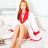 [어거스핀] AGUSFIN SURF BEACH ROBE (WHITE-RED) 비치가운