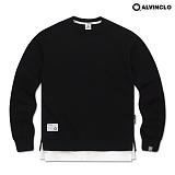 [앨빈클로]ALVINCLO MAR-751B 다양한 컬러의 레이어드 맨투맨 크루넥 스��셔츠