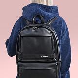[제이아셀] JEASHER - Day max Backpack (BK) 데이 맥스 백팩 블랙 가죽 레더
