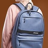 [제이아셀] JEASHER - Day max Backpack (BL) 데이 맥스 백팩 블루 가죽 레더