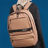 [제이아셀] JEASHER - Day max Backpack (BB) 데이 맥스 백팩 브라운 베이지 가죽 레더