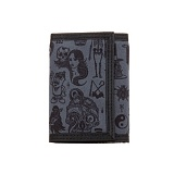 REBEL8 GIANT FLASH VELCRO WALLET (BLACK)