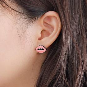 마리안케이트 - 스타일 팝 이어링 - 블랙 귀걸이