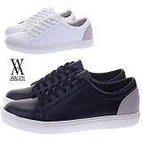 [에이벨류] 306-source 남성 모던 클래식 스니커즈-3cm (블랙.화이트) 남자 소스 단화 신발