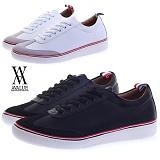 [에이벨류] 323-tibi 남성 댄디 라인 스니커즈-3cm (화이트.블랙) 남자 티비 단화 패션화 신발