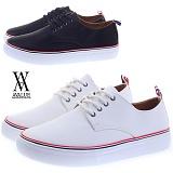 [에이벨류] 350-tomvue 남성 심플 레더 스니커즈-3cm (블랙.화이트) 남자 톰브 단화 신발