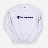 [CHAMPION]챔피온 BASIC LOGO CREWNECK (ASH) 베이직 로고 크루넥 스��셔츠 맨투맨 정품 국내배송