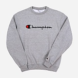 [CHAMPION]챔피온 BASIC LOGO CREWNECK (GREY) 베이직 로고 크루넥 스��셔츠 맨투맨 정품 국내배송