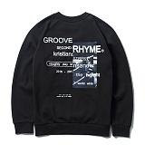 [그루브라임]Grooverhyme - 2016 REFRAME PICTURE SWEATSHIRTS (BLACK) [GM017E43BK]크루넥 스��셔츠 맨투맨