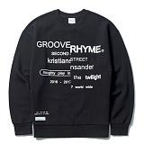 [그루브라임]Grooverhyme - 2016 FRONT REFRAME SWEATSHIRTS (BLACK) [GM020E43BK]크루넥 스��셔츠 맨투맨