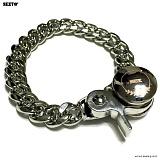 SEXTO - [Handmade] X3 Chain N-TYPE bracelet Silver 팔찌 체인